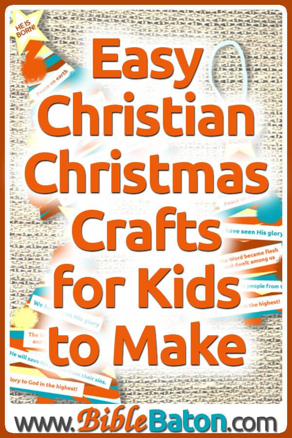Easy Christian Christmas Crafts for Kids to Make